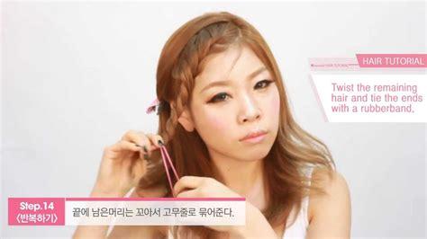 english subtitleskorean hair cute  easy braided
