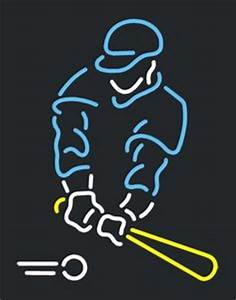 1000 images about BASEBALL PLAYER BEER BAR CLUB NEON