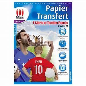 Papier Transfert Tee Shirt : papier transfert pour t shirts et textiles fonc s ~ Melissatoandfro.com Idées de Décoration