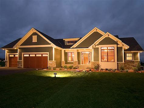 Lovely House Plans With Walkout Basements #4 Craftsman