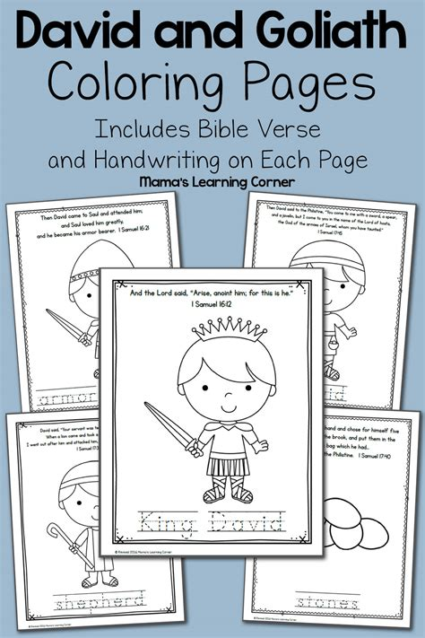 david  goliath bible coloring pages mamas learning corner