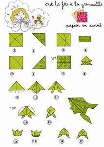 Origami Animaux Facile Gratuit : origami grenouille papertoyz origami grenouille ~ Dode.kayakingforconservation.com Idées de Décoration
