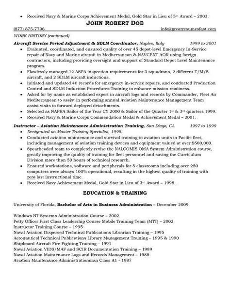 aircraft maintenance  quality assurance resume