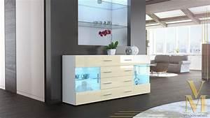Tv Sideboard Weiß Hochglanz : sideboard kommode tv board vitrine anrichte bari v2 wei hochglanz naturt ne ebay ~ Orissabook.com Haus und Dekorationen