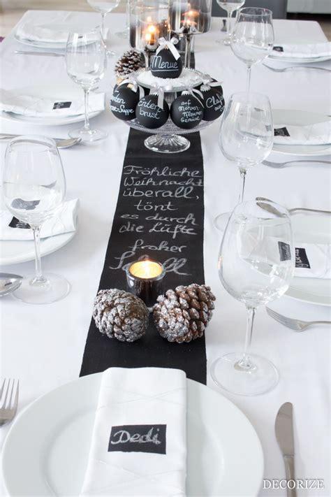 Weihnachts Tisch Deko by Festtafel Zu Weihnachten Tischdekoration Mit Tafelfarbe