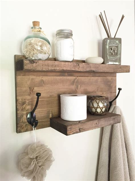 rustic bathroom shelf rustic wood shelf towel rack