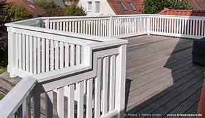 Balkon Handlauf Holz : gel nder f r balkon terrasse harholz weiss ral mit ~ Lizthompson.info Haus und Dekorationen