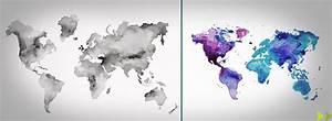 Carte Du Monde Design : carte monde peinture datcha decoration ~ Teatrodelosmanantiales.com Idées de Décoration