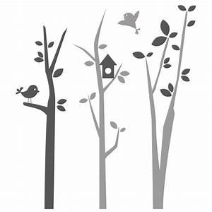 stickers arbre chambre bebe avec oiseaux autocollants With chambre bébé design avec envoyer des fleurs pour noel