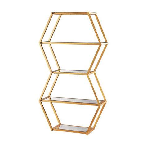 gold metal bookcase dimond home vanguard metal bookshelf gold ellamodern