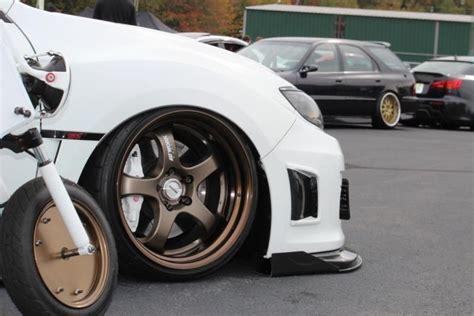 Cars With Bronze Rims : Bronze Work Wheels On White Subaru
