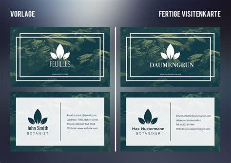 kostenlose visitenkarten durch photoshop vorlagen
