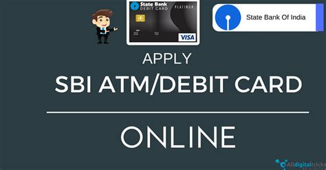 how to apply new sbi atm debit card through net