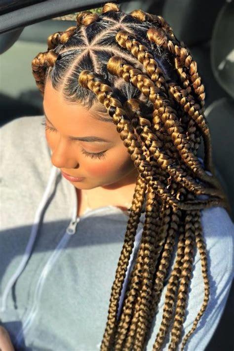 triangle braids hairstyles    rocking box braids  haircuts hairstyles  hair