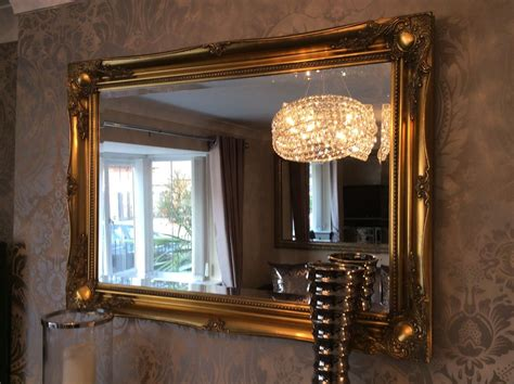 gold shabby chic mirror large antique gold shabby chic ornate decorative over mantle gilt wall mirror