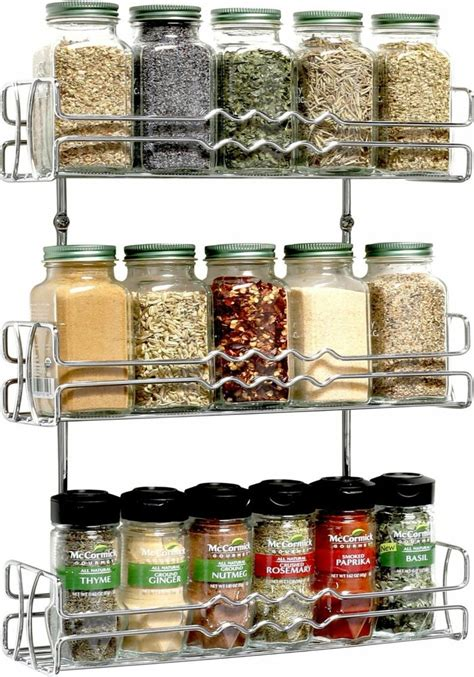 Spice Storage Racks by New 3 Tier Spice Jar Rack Storage Holder Organizer Wall
