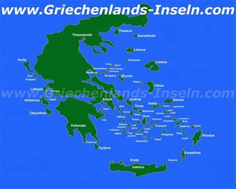 griechenland mit inseln karte kleve landkarte
