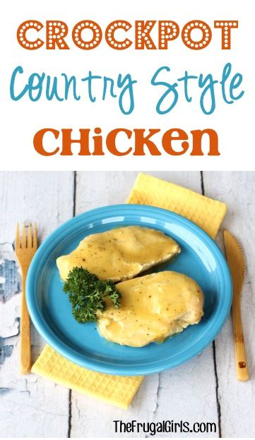 Crockpot Country Style Chicken Recipe! {4 Ingredients