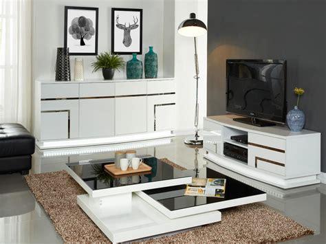 vente unique canapé pack meubles luminescence leds buffet meuble tv blanc