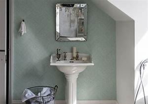Déco Salle De Bains : j 39 ose le papier peint dans ma salle de bains elle d coration ~ Melissatoandfro.com Idées de Décoration
