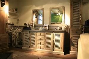 meuble salle de bain bois brut chaioscom With meuble salle de bain bois massif double vasque