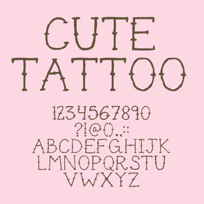 cute tattoo font dafontcom