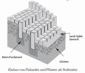 Blockstufen Beton Setzen : gartenbau aydin in d sseldorf bau von stufen und treppen mit palisaden ~ Orissabook.com Haus und Dekorationen