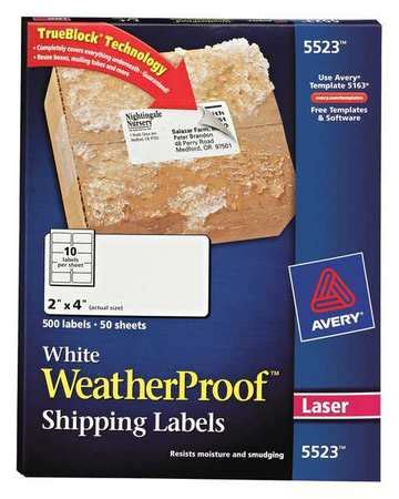 Avery Template 5523 by Avery Avery Shipping Label For Laser Printers 5523 Pk50
