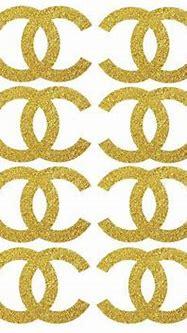 16 GLITTER Chanel sticker Designer logo Chanel by ...