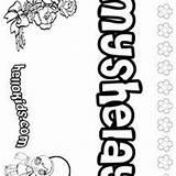 Coloring Pages Myah Names Maci Hellokids sketch template