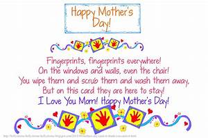 Short^ Happy Mothers Day Poems From Daughter & Son That ...