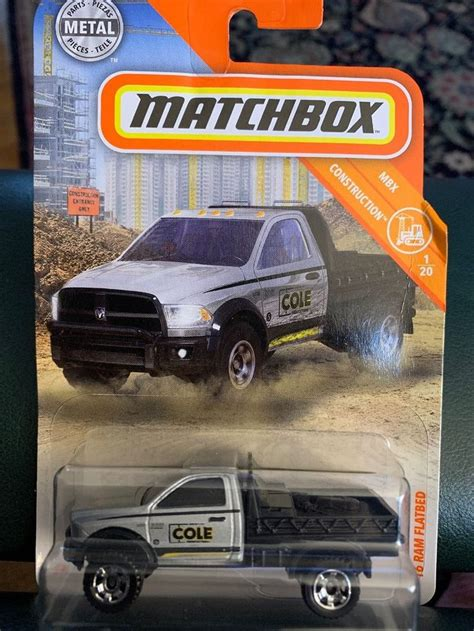 matchbox   ram flatbed silver mbx construction