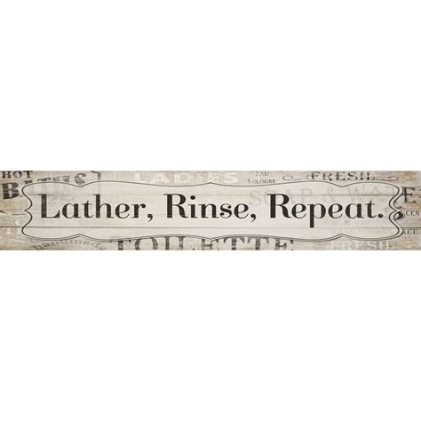 shop lather rinse repeat sign at lowes com