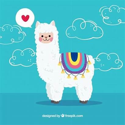 Alpaca Llamas Dibujos Freepik Llama Fondo Cartoon