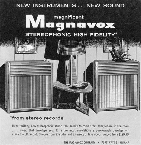 1958 Magnavox ad | 1958 was a good year! | Pinterest | Ads
