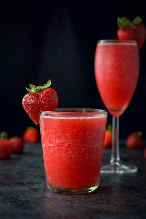 frose recipe frozen strawberry cocktail dishes delish