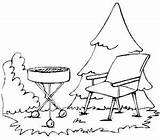 Coloring Grill Pages Lawn Barbecue Chair Bar Grilling Template Familycrafts sketch template