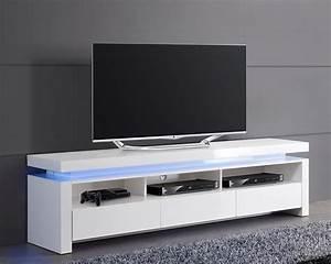 Meuble Bas Blanc Laqué : meuble tv bas blanc ~ Edinachiropracticcenter.com Idées de Décoration