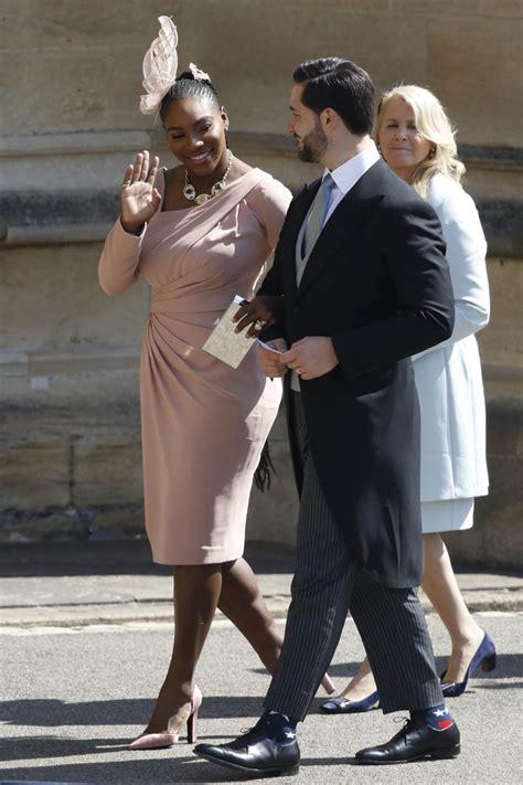 serena williams attends  royal wedding