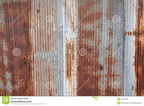 zinc fence rust stains royalty preview