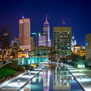 Downtown Indianapolis at Night – Peter's Travel Blog