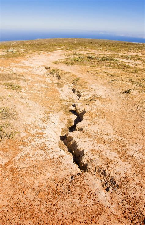 potential california earthquake fault  exposed