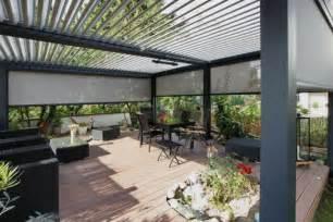 pergola bioclimatique la toiture terrasse g 233 niale par