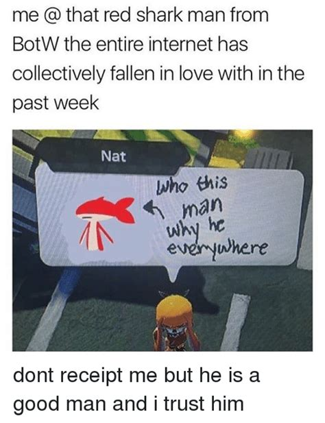 Botw Memes - me a that red shark man from botw the entire internet has collectively fallen in love with in