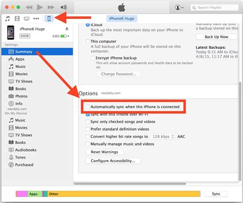 sync iphone to how to change automatic sync in itunes
