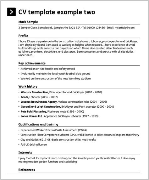 free construction resume templates resume resume