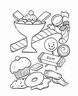 Coloring Candy Pages Popular Sweets Treats sketch template