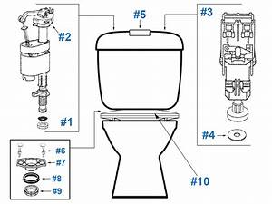 Caroma Tasman Model Toilet Replacement Repair Parts