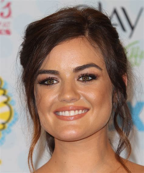 lucy hale hairstyles   triangular  pear face shape