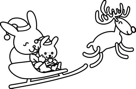 clipartistnet clip art santa rabbit black white
